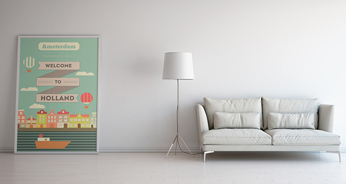 Plakat inspirowany Holandią