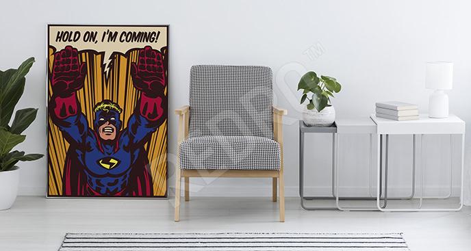 Plakat inspirowany Supermanem