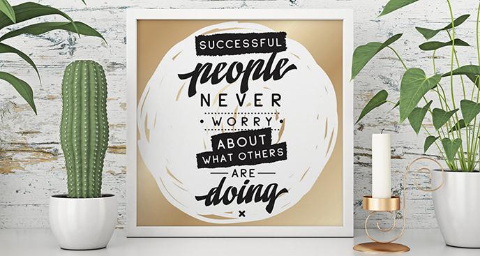 Plakat inspirujący cytat