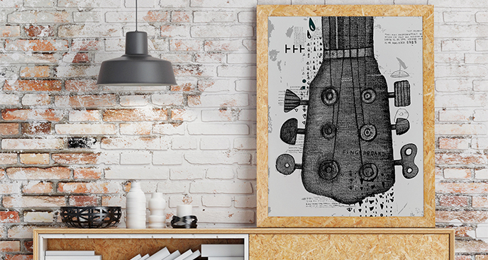Plakat instrumenty: gitara