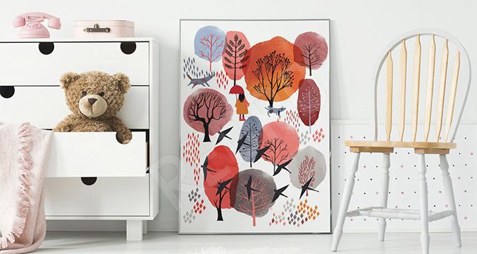 Plakat jesień do pokoju dziecka