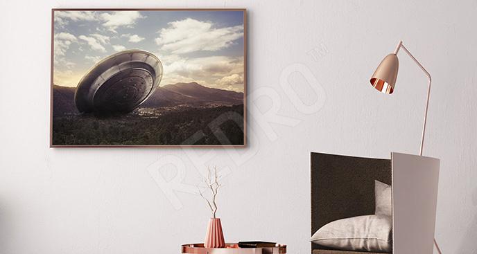 Plakat katastrofa statku UFO