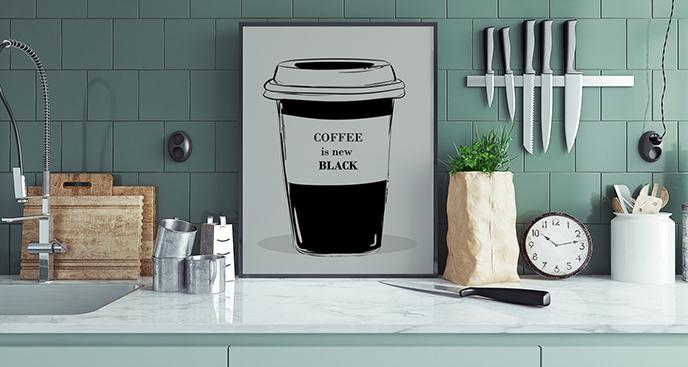 Plakat kawa do kuchni