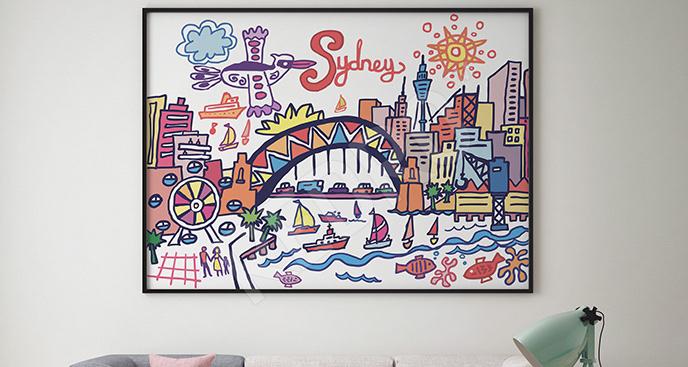 Plakat kolorowe Sydney