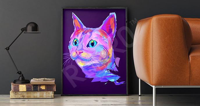 Plakat kolorowy zwierzak