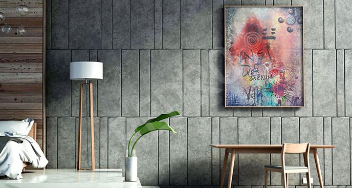 Plakat kolory sztuki ulicznej
