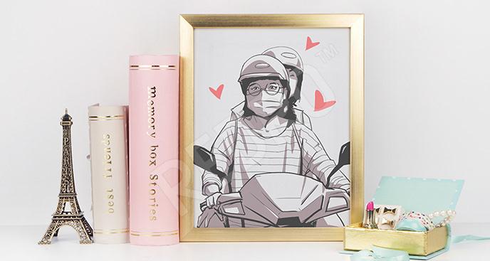 Plakat komiks japoński