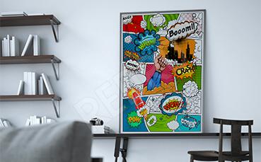 Plakat komiks pop art