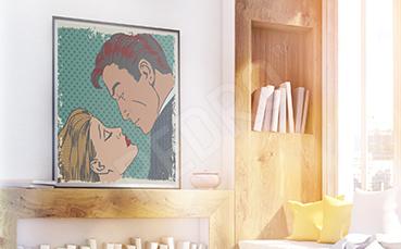 Plakat komiksowa para