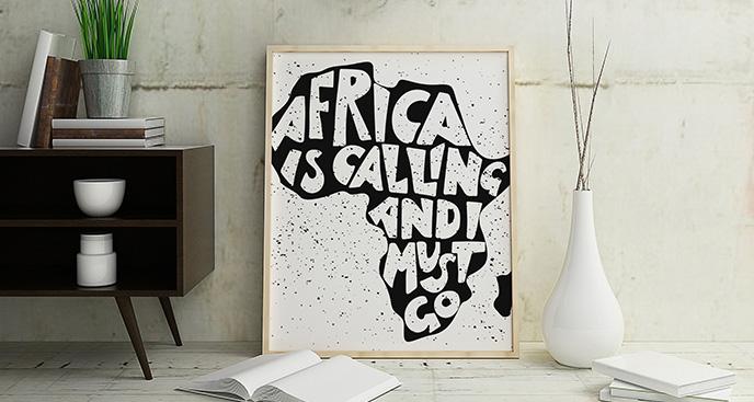 Plakat kontynent afrykański