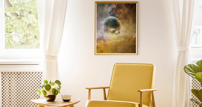 Plakat kosmiczna przestrzeń