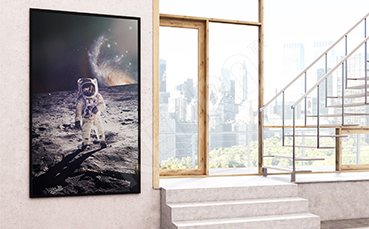 Plakat kosmonauta