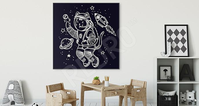 Plakat kosmonauta dla dziecka