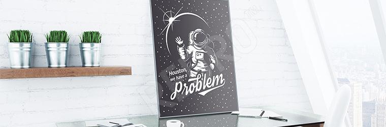 Plakat kosmos czarno-biały