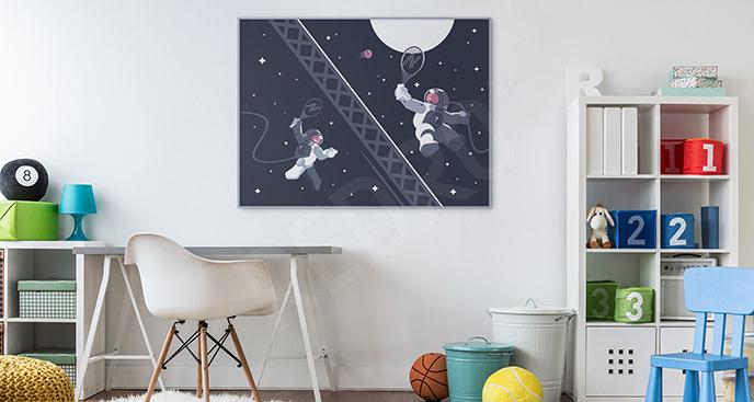 Plakat kosmos do pokoju dziecka