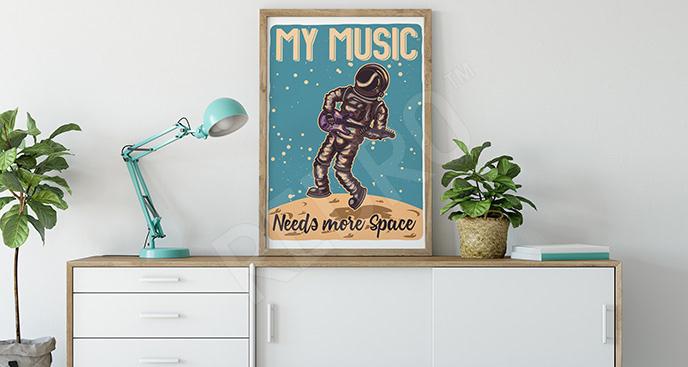Plakat kosmos retro
