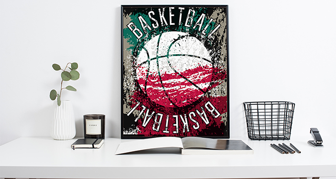 Plakat koszykówka dla nastolatka