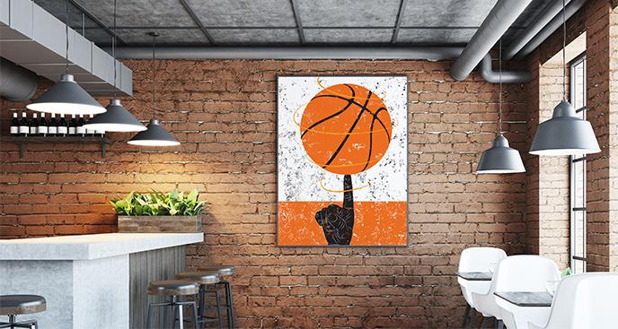 Plakat koszykówka do bistro