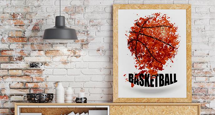 Plakat koszykówka do salonu