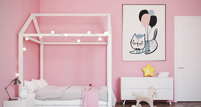 Plakat kot do pokoju dziecięcego