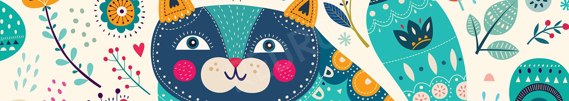 Plakat kot w stylu etnicznym