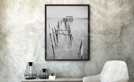 Plakat krajobraz czarno-biały