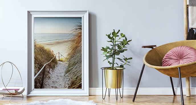 Plakat krajobraz z wejściem na plażę