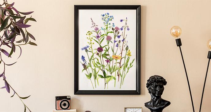 Plakat kwiaty łąki