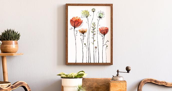 Plakat kwiaty – maki