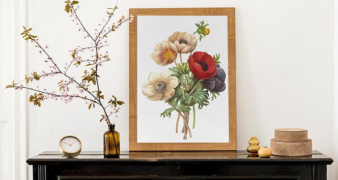 Plakat kwiaty polne