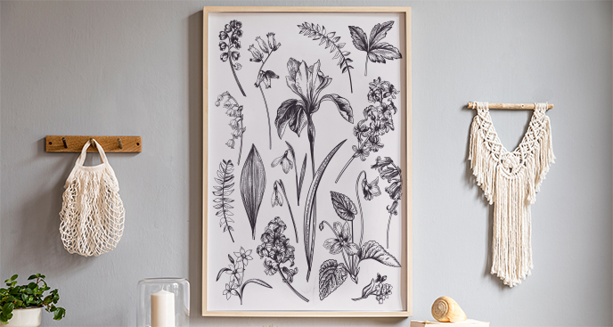 Plakat kwiaty wiosenne