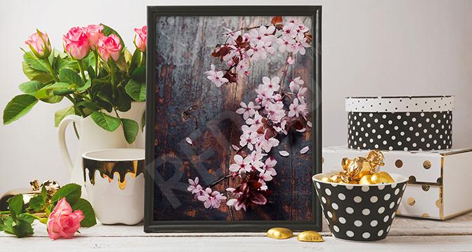 Plakat kwitnąca wiśnia