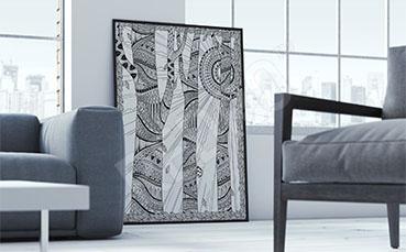 Plakat las abstrakcyjny