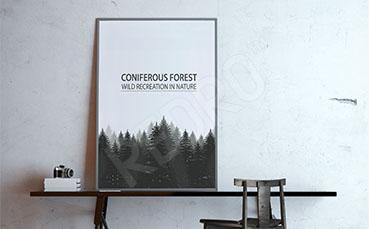 Plakat las sosnowy