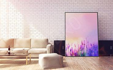 Plakat lawenda malowana akwarelą