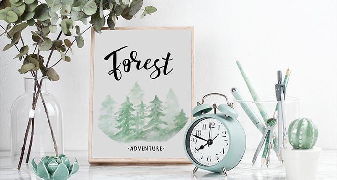 Plakat leśna przygoda