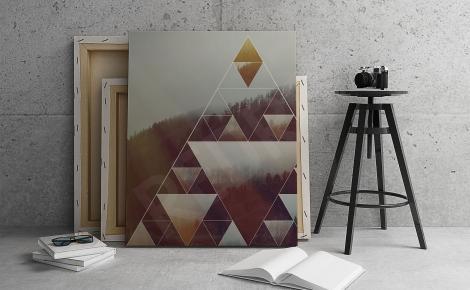 Plakat leśne inspiracje geometria