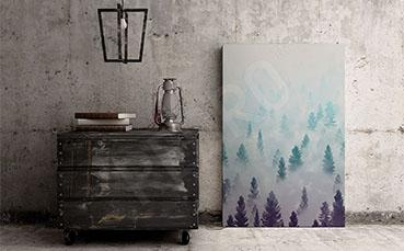 Plakat leśny krajobraz