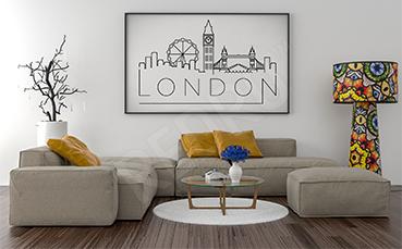 Plakat Londyn czarno-biały