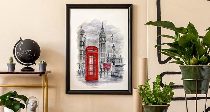 Plakat Londyn dla nastolatka