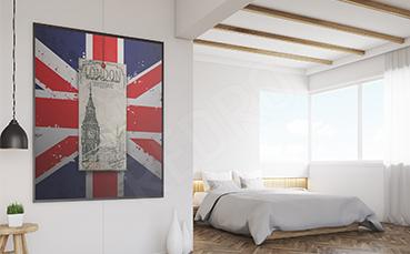 Plakat Londyn flaga