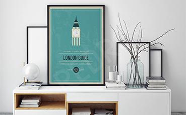 Plakat Londyn minimalizm