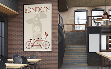Plakat Londyn retro