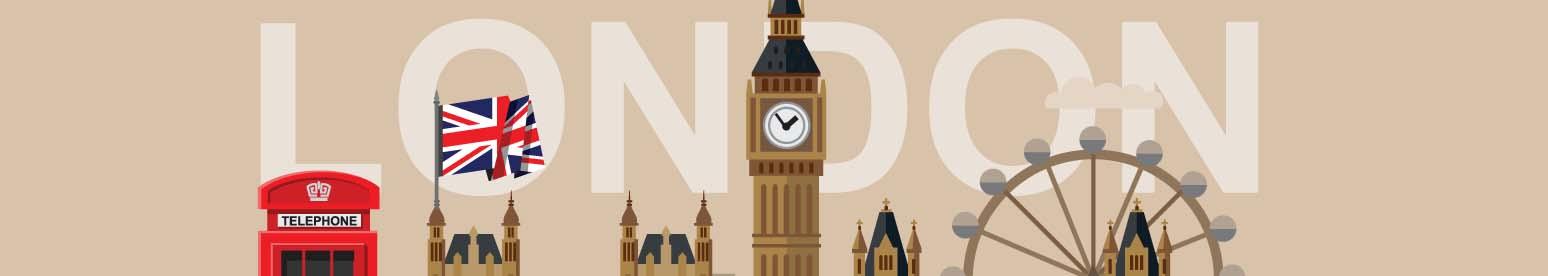 Panoramiczny plakat Londyn