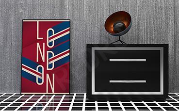 Plakat Londyn typografia