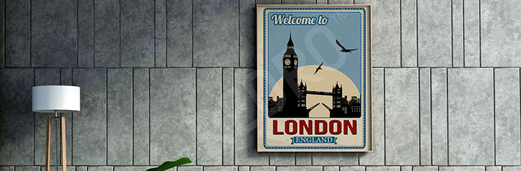 Plakat Londyn vintage