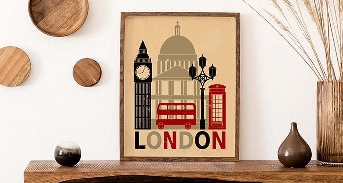 Typograficzny plakat Londyn