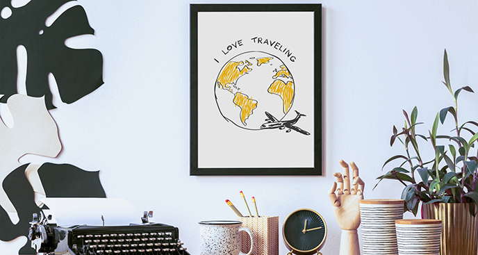 Plakat lotniczy dla podróżnika