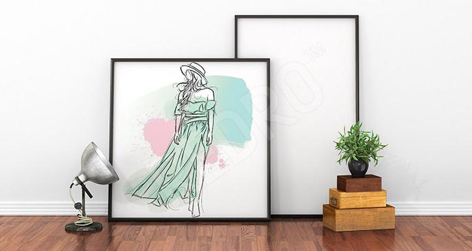 Plakat ludzie: kobieta do salonu