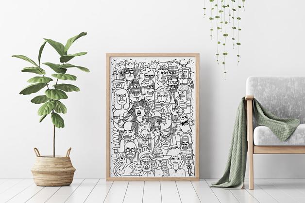 Plakat - Ludzkie twarze